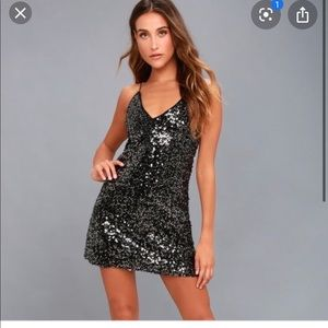 Lulus sequin dress backless